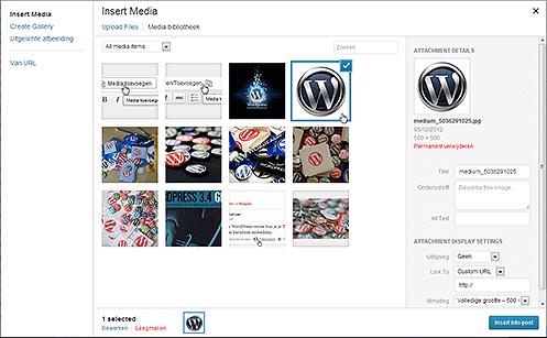 WordPress 3.5 – Media manager compleet vernieuwd