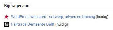 Google Plus Profiel Bijdrager