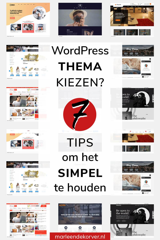 WordPress thema kiezen - 7 tips