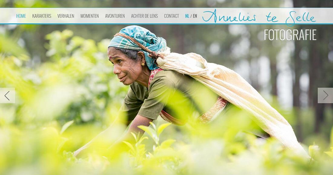 Website van fotograaf Annelies te Selle