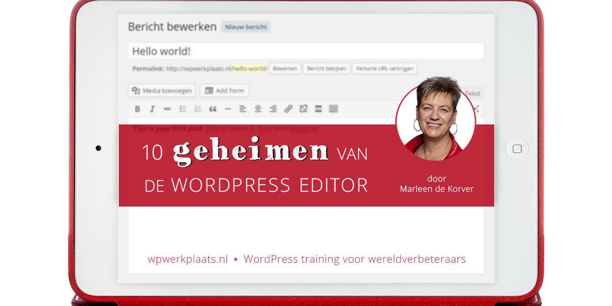 10 Gratis video's – slim werken met de WordPress editor