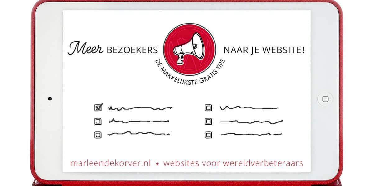 Méér bezoekers naar je website!