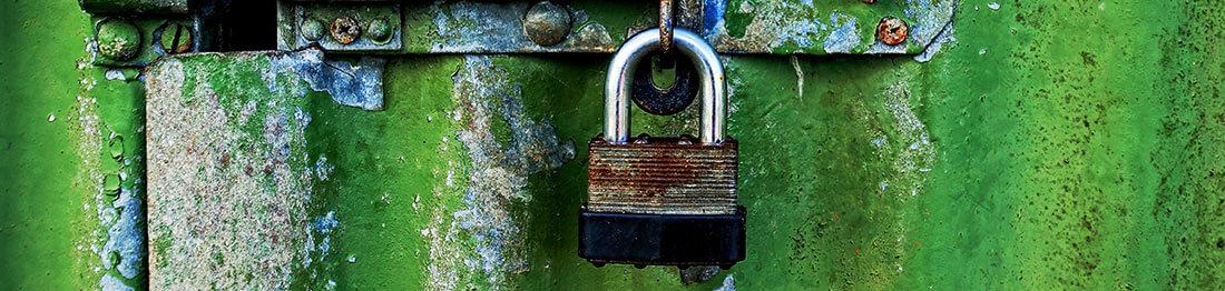 Veilige website met groen hangslot
