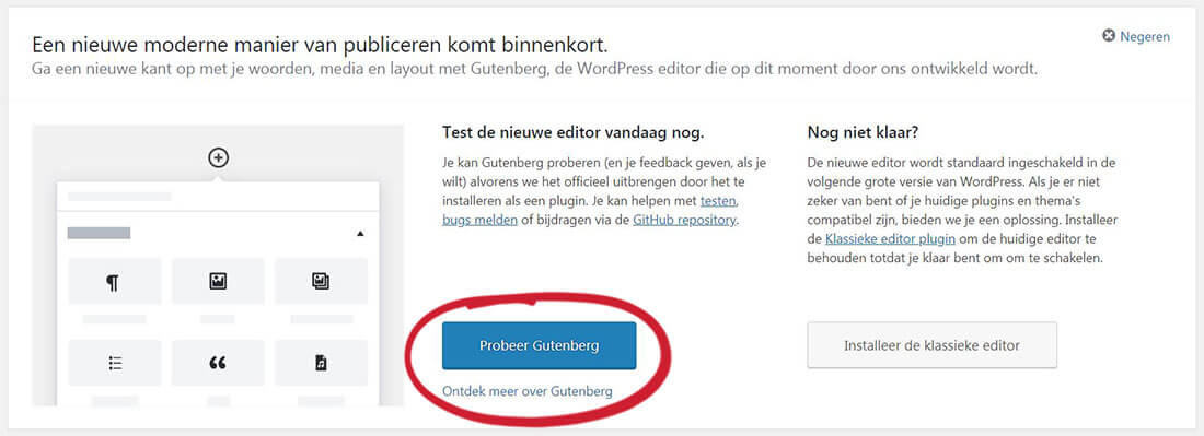 Gutenberg plugin: nu al overstappen of nog even wachten?