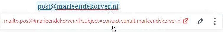 Maak je e-mailadres klikbaar